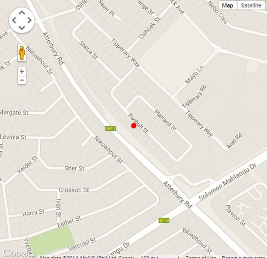 Map Swallows Rest Furnished Townhouse in Faerie Glen  Pretoria East  Pretoria / Tshwane  Gauteng  South Africa