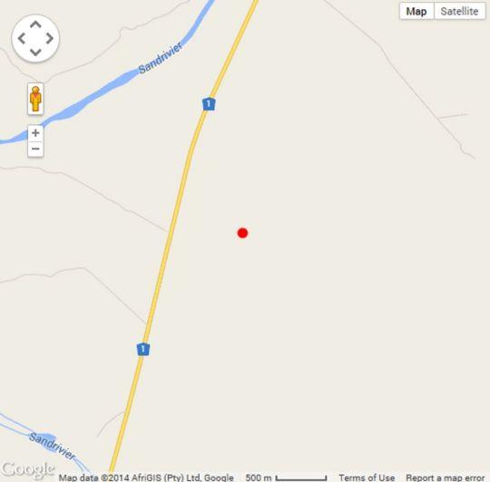Map Stonebridge Lodge in Musina  Soutpansberg  Limpopo  South Africa