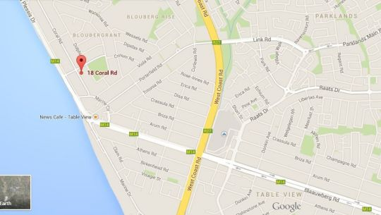 Map 18 on Coral Luxury Apartment in Bloubergstrand  Blaauwberg  Cape Town  Western Cape  South Africa