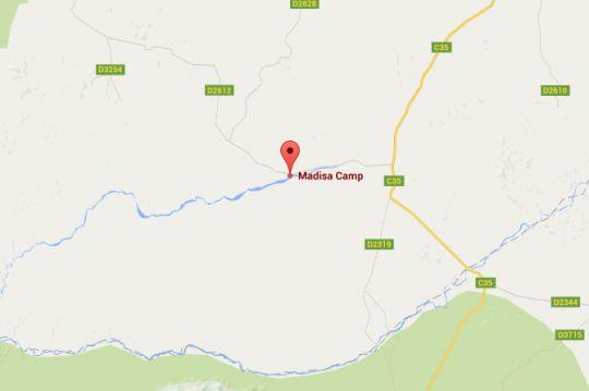 Map Madisa Camp in Damaraland  Namibia