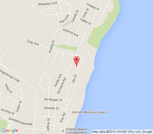 Map Mandyville Hotel in Jeffreys Bay  Cacadu (Sarah Baartman)  Eastern Cape  South Africa