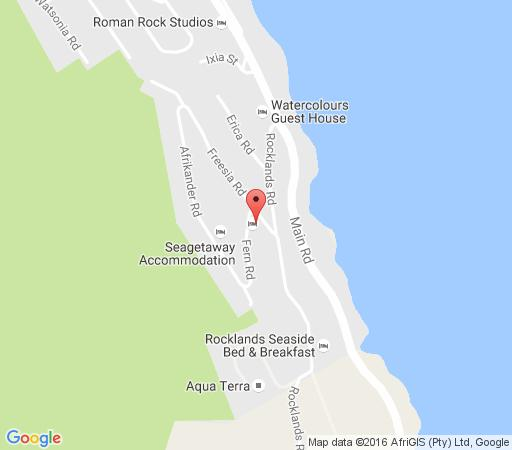 Map Rocklands House in Simon's Town  False Bay  Cape Town  Western Cape  South Africa