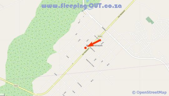 Map DeKotzenhof in Wakkerstroom  Wetlands  Mpumalanga  South Africa