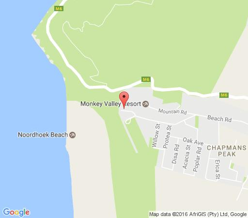 Map Marina Break in Noordhoek  False Bay  Cape Town  Western Cape  South Africa