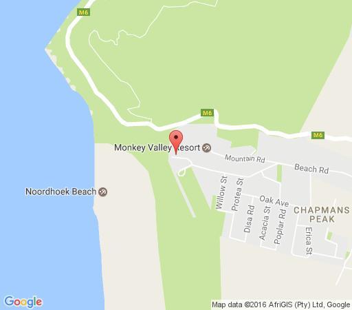 Map Marina Break in Noordhoek  False Bay  Le Cap  Western Cape  Afrique du Sud