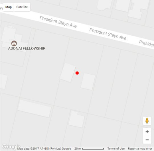 Map Oakwood Lodge in Bloemfontein  Mangaung  Free State  South Africa