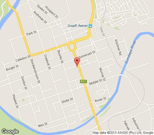 Map Drostdy Hotel in Graaff-Reinet  Cacadu (Sarah Baartman)  Eastern Cape  South Africa