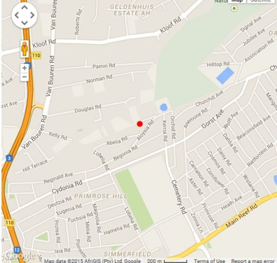 Map Bedfordview Boutique Lodge in Bedfordview  Ekurhuleni (East Rand)  Gauteng  South Africa