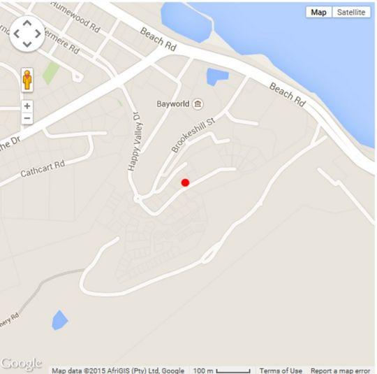 Map The Kelway Hotel in Humewood  Port Elizabeth  Cacadu (Sarah Baartman)  Eastern Cape  South Africa