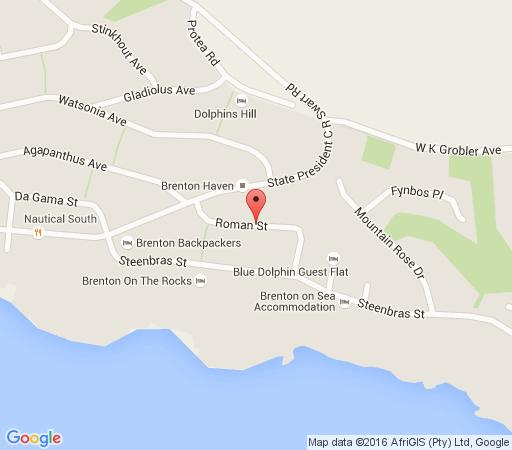 Map Brenton on Sea Holiday Home in Knysna  Garden Route  Western Cape  South Africa