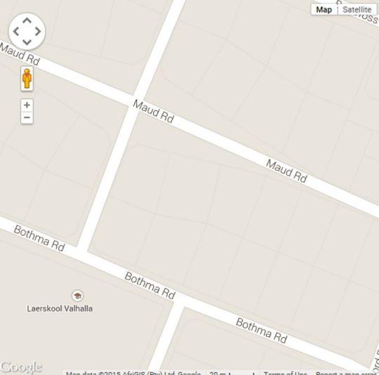 Map Aanthuizen Guest House in Valhalla  Centurion  Pretoria / Tshwane  Gauteng  South Africa