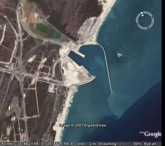 Map Tiger Bay Accommodation in Swartkops  Port Elizabeth  Cacadu (Sarah Baartman)  Eastern Cape  South Africa