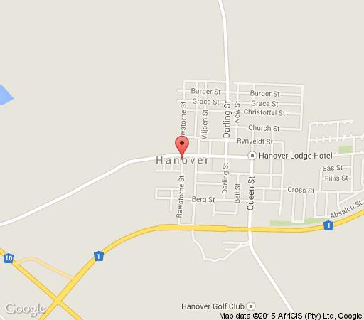Map Karoo Gariep Nature Reserve Tented Camp  in Hanover  Upper Karoo  Northern Cape  South Africa