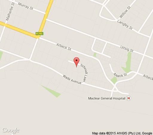 Map Maclear Manor in Maclear  Drakensberg (EC)  Eastern Cape  South Africa