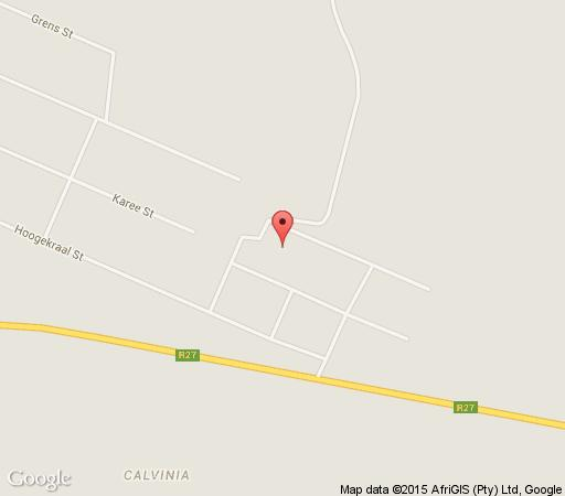 Map Calvinia Camping site in Calvinia  Hantam Karoo  Northern Cape  South Africa