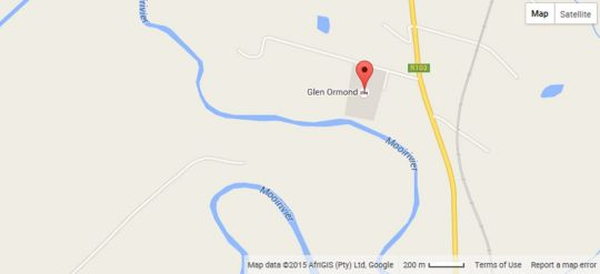 Map Glen Ormond in Nottingham Road  Midlands  KwaZulu Natal  Zuid-Afrika