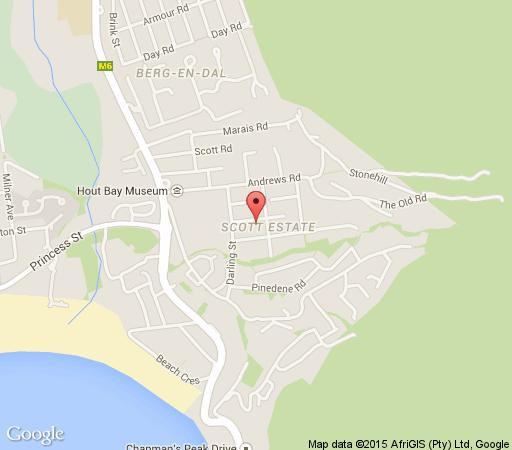 Map 4A King B&B in Hout Bay  Atlantic Seaboard  Cape Town  Western Cape  South Africa
