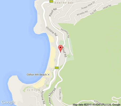 Map Clifton Beach Apartment in Clifton  Atlantic Seaboard  Cape Town  Western Cape  South Africa