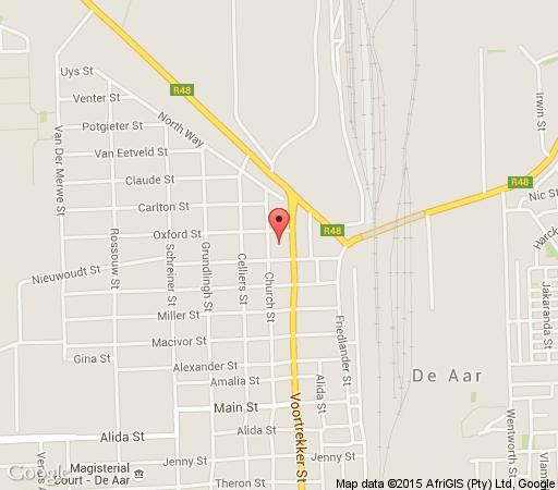 Map Karoo Country Guesthouse in De Aar  Upper Karoo  Northern Cape  South Africa