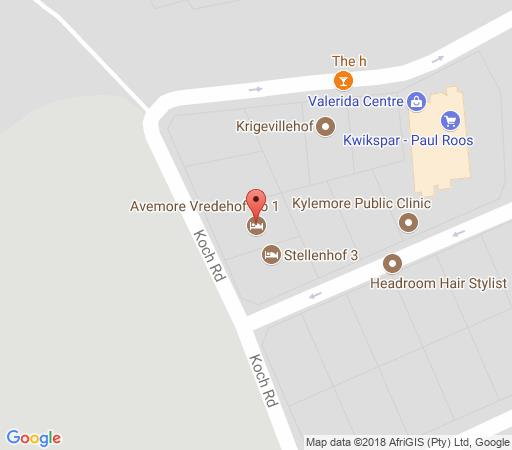 Map Avemore Vredehof No 1 in Stellenbosch  Cape Winelands  Western Cape  South Africa