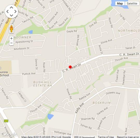 Map Mikasa Lodge in Boskruin  Randburg  Johannesburg  Gauteng  South Africa