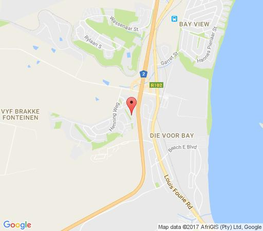 Map Hartenbos Holiday Home in Hartenbos  Garden Route  Western Cape  South Africa