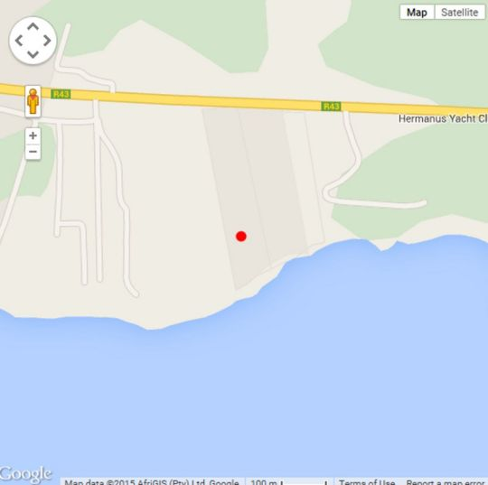 Map The Thatch House in Hermanus  Overberg  Western Cape  South Africa