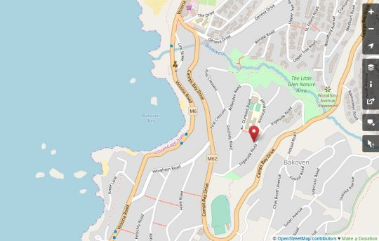 Map Camps Bay Apartment in Camps Bay  Atlantic Seaboard  Cape Town  Western Cape  South Africa