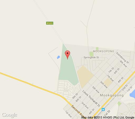 Map Grootgeluk Bush Camp in Mookgopong (Naboomspruit)  Bushveld  Limpopo  South Africa