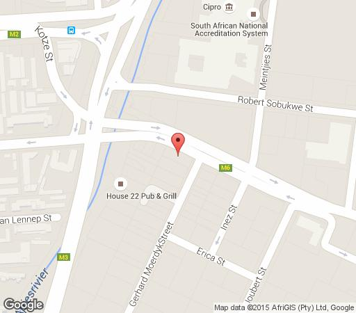 Map Li\'TheCa Guesthouse & Function Venue in Sunnyside  Pretoria Central  Pretoria / Tshwane  Gauteng  South Africa