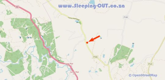 Map Gum Tree Glen in Curry's Post  Midlands  KwaZulu Natal  South Africa
