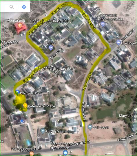 Map Paternoster Place in Paternoster  West Coast (WC)  Western Cape  South Africa
