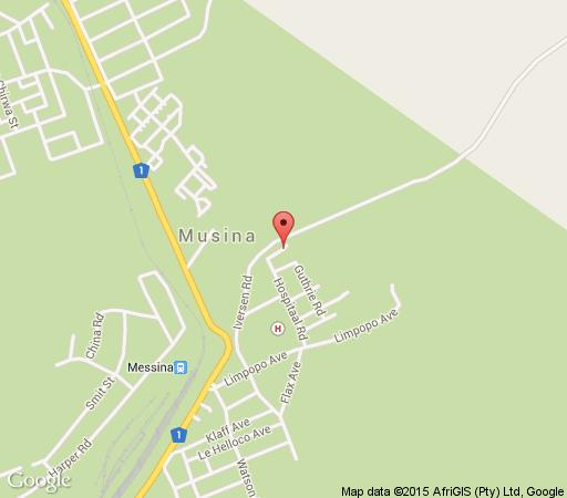 Map Old Mine Guest House in Musina  Soutpansberg  Limpopo  South Africa