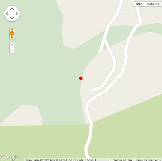 Map Bushwhacked Barberton in Barberton  Lowveld  Mpumalanga  Suid-Afrika