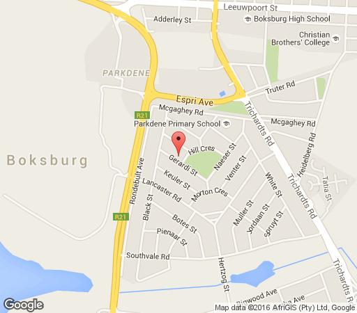 Map The View @ 29 in Boksburg  Ekurhuleni (East Rand)  Gauteng  South Africa