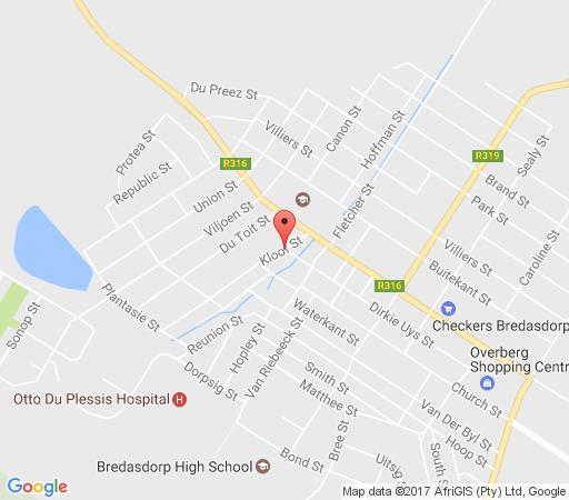 Map 6 on Kloof in Bredasdorp  Overberg  Western Cape  South Africa