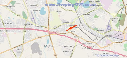 Map Green Fig Guest House in Brakpan  Ekurhuleni (East Rand)  Gauteng  South Africa