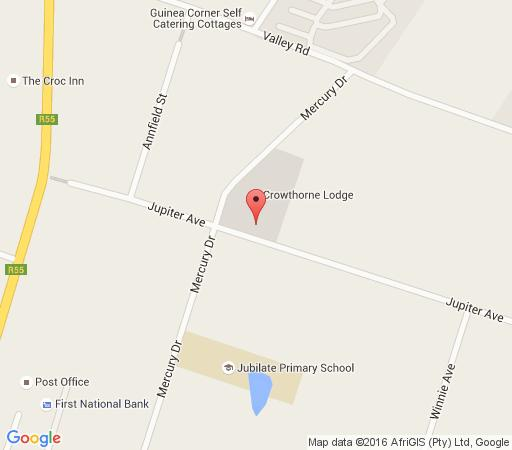 Map Crowthorne Lodge in Crowthorne  Midrand  Johannesburg  Gauteng  South Africa