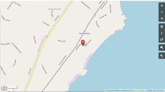 Map Ambleside South Wing in Umtentweni  South Coast (KZN)  KwaZulu Natal  South Africa