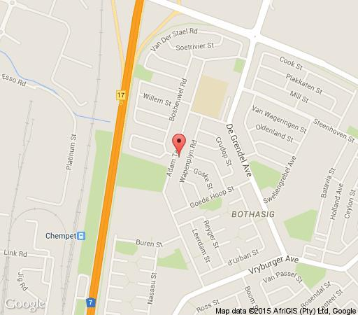 Map Villa Sunar Bothasig in Milnerton  Blaauwberg  Cape Town  Western Cape  South Africa