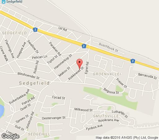 Map Little Nest in Sedgefield  Garden Route  Western Cape  South Africa