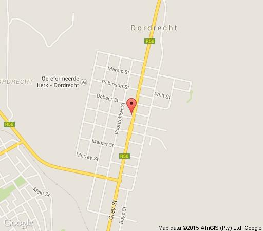 Map 97 Grey Street in Dordrecht  Stormberg District  Eastern Cape  South Africa