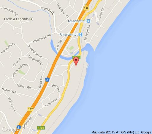 Map 2 Miland Court in Amanzimtoti  South Coast (KZN)  KwaZulu Natal  South Africa