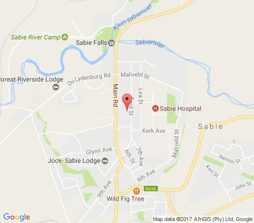 Map Dublin Guest lodge in Sabie  The Panorama  Mpumalanga  South Africa