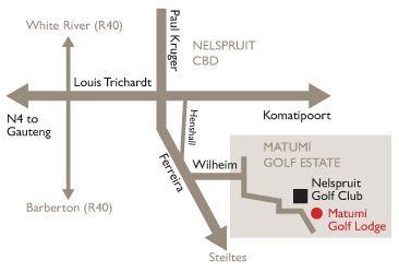 Map Matumi Golf Lodge in Nelspruit  Lowveld  Mpumalanga  South Africa