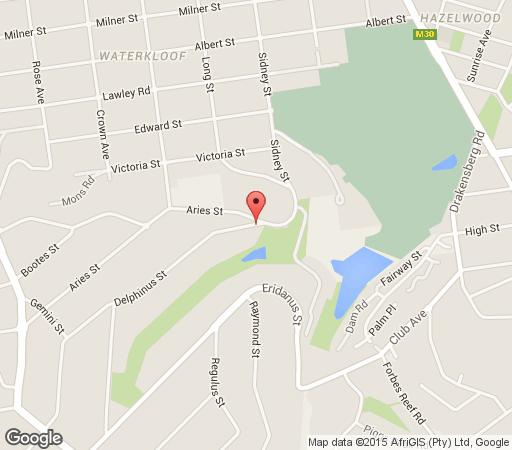 Map Ambonnay Terrace Guest House in Waterkloof Ridge  Pretoria East  Pretoria / Tshwane  Gauteng  South Africa