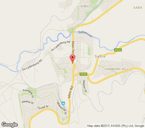 Map Jock Sabie Lodge in Sabie  The Panorama  Mpumalanga  South Africa