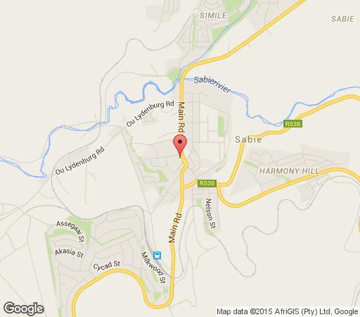 Map Jock Sabie Lodge in Sabie  The Panorama  Mpumalanga  South Africa