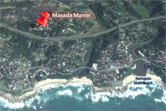 Map Masada Manor in Ramsgate  South Coast (KZN)  KwaZulu Natal  South Africa