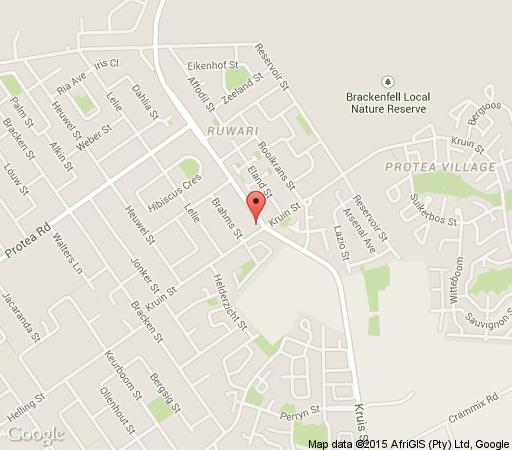 Map Yorkshire House in Brackenfell  Northern Suburbs (CPT)  Cape Town  Western Cape  South Africa
